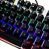 Механическая игровая клавиатура с подсветкой Metoo Zero X51, свитчи черные, фото 9