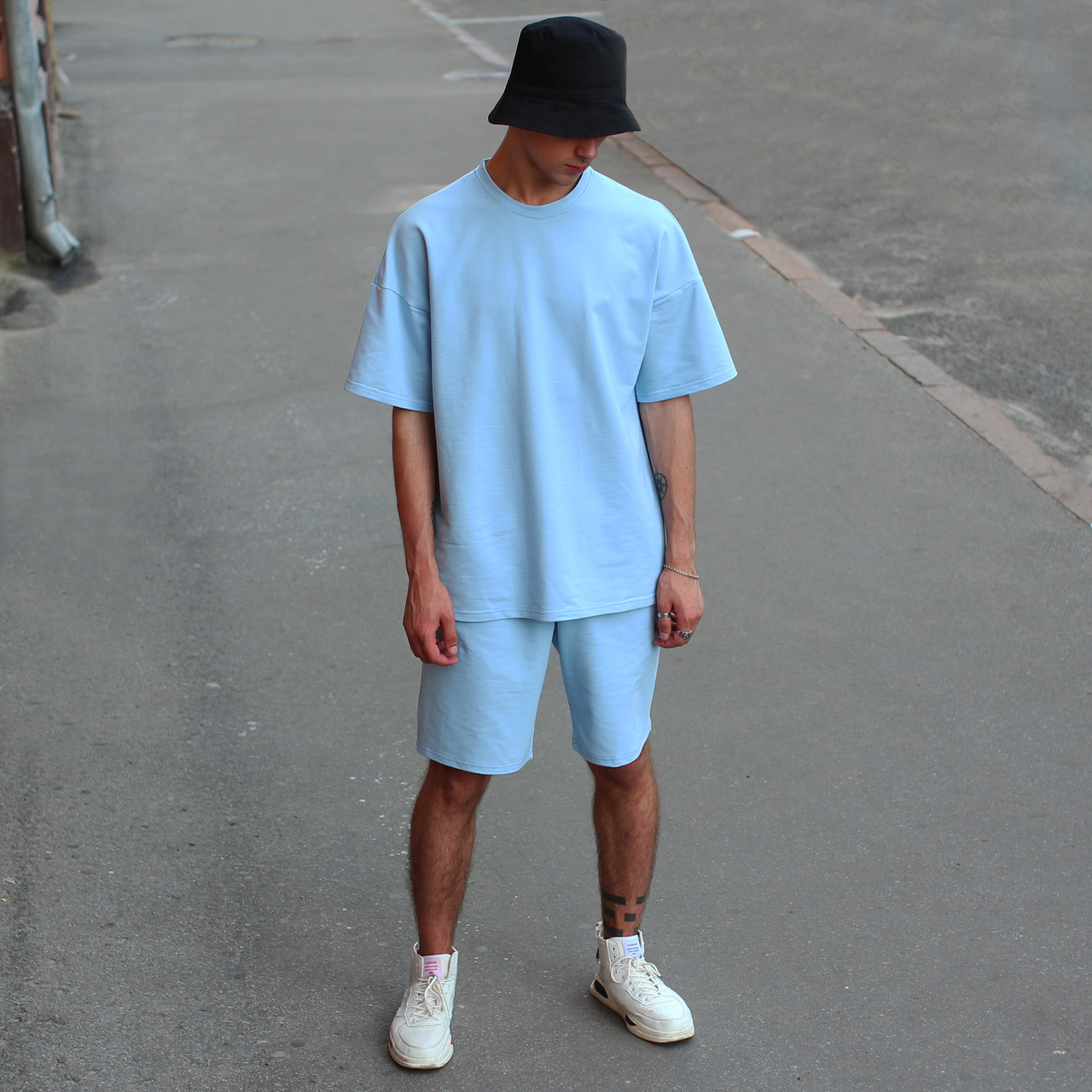 Футболка мужская голубая Quil (Квил) бренд Тур размер