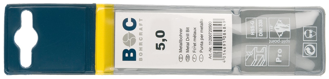 Сверло 1.5х40 по металлу (Co 5) Bohrcraft