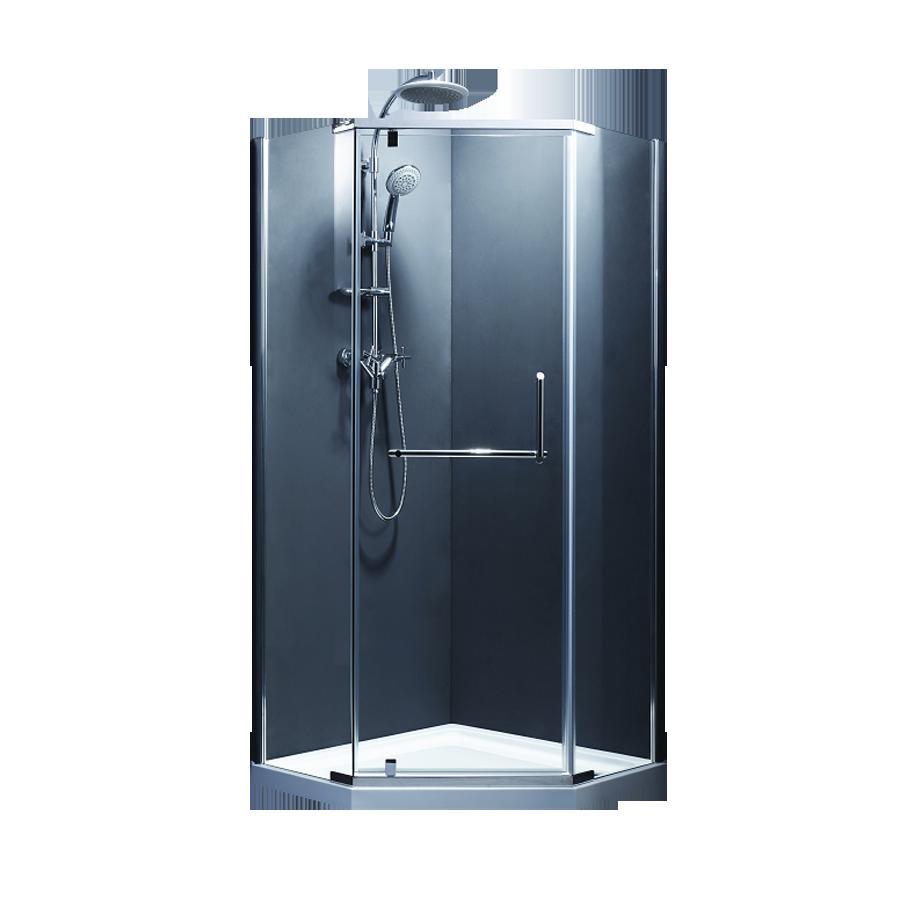 Кабіна душова, п'ятикут. 90х90, без піддона, скло прозоре FEN0123 COMFORT
