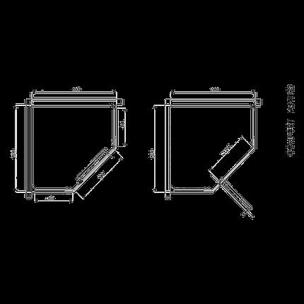 Кабіна душова, п'ятикут. 90х90, без піддона, скло прозоре FEN0123 COMFORT, фото 2