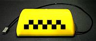 """CAR SPORT - """"Шашка"""" такси, знак такси - фонарь на магнитах для крепления на крышу автомобиля (Yellow)"""
