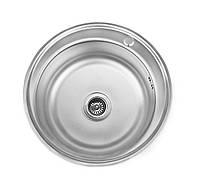 Кухонная мойка Lemax нерж. сталь декор LE-5014 DE +сифон (LE-5014 DE), фото 1