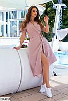 Легкое женское летнее платье на запах за колено арт 1002
