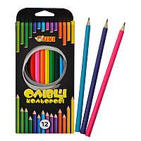 Олівці кольорові 12 кольорів, Тікі