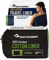 Вкладиш в спальник Sea To Summit Premium Cotton Travel Liner Double Rectangular Navy Blue (STS ADBLOSNB)