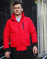 Куртка мужская красная. Мужская демисезонная куртка.