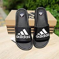 Женские черные Тапки Adidas реплика, фото 1