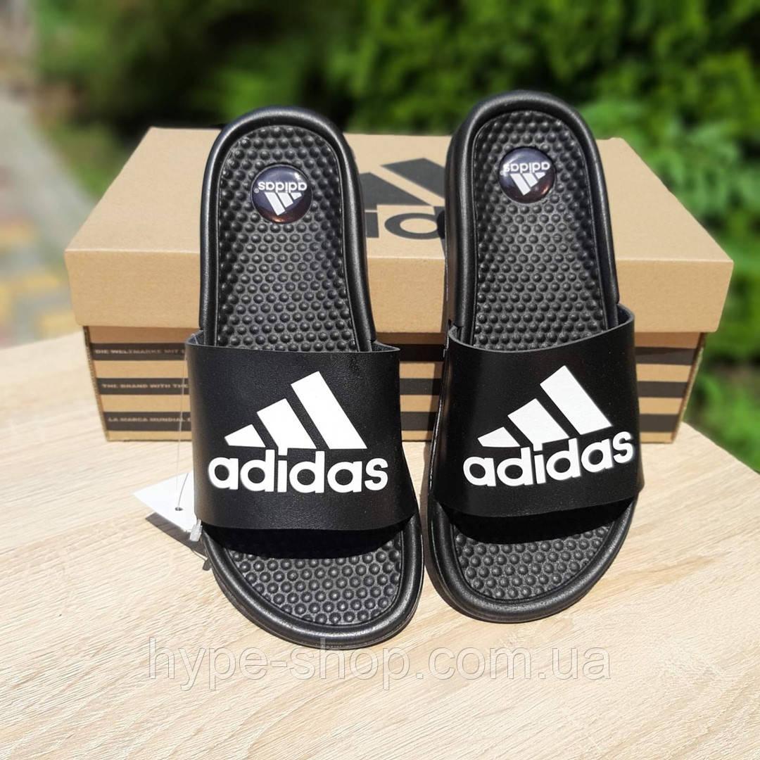 Женские черные Тапки Adidas реплика