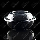 Упаковка для салата без крышки, УК-107, ЧЕРНАЯ, РЕТ, 1000 мл (300 шт/ящ), фото 3