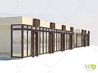 Торговый ряд,остановочный павильон изготовление под ключ.Реконструкция.