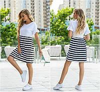 Р 42-44 Натуральное летнее платье свободного кроя 21921