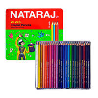 Олівці кольорові Nataraj Vivid, набір 24 шт