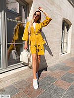 Женский костюм-тройка шорты-бермуды, брюки-кюлоты, жакет, размеры 42-46