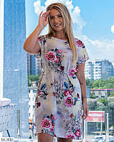Летнее женское платье большого размера, размеры 48-52, 54-58
