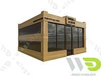 Изготовление и продажа малых архитектурных форм, остановочных комплексов, киосков.
