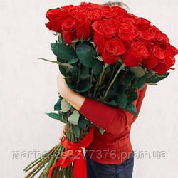 Букет с доставкой 3-101 свежие бордовые розы Кривой Рог