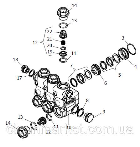 Никелированная головка блока цилиндров в сборе NPM (1.099-758.0)