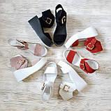 Белые кожаные босоножки на платформе женские Bona Mente, фото 10