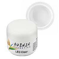 Гель для наращивания LED Clear Avenir 15 мл, 30 мл, 50 мл