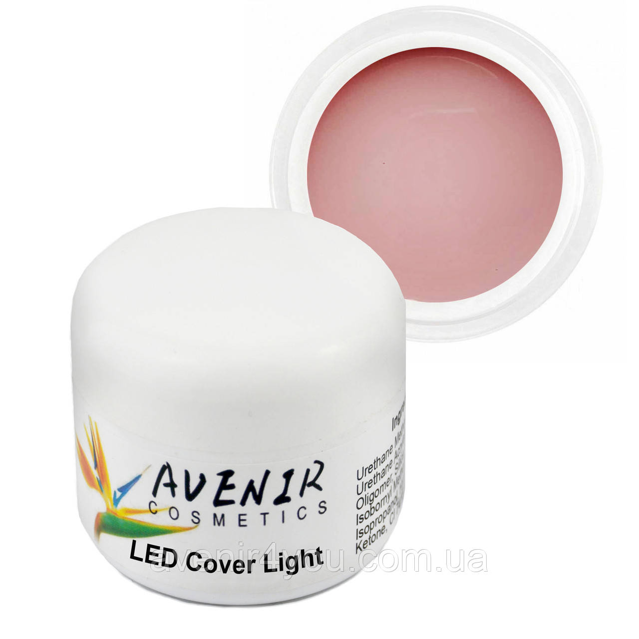 Гель для нарощування LED Cover Light Avenir 15 мл, 30 мл, 50 мл