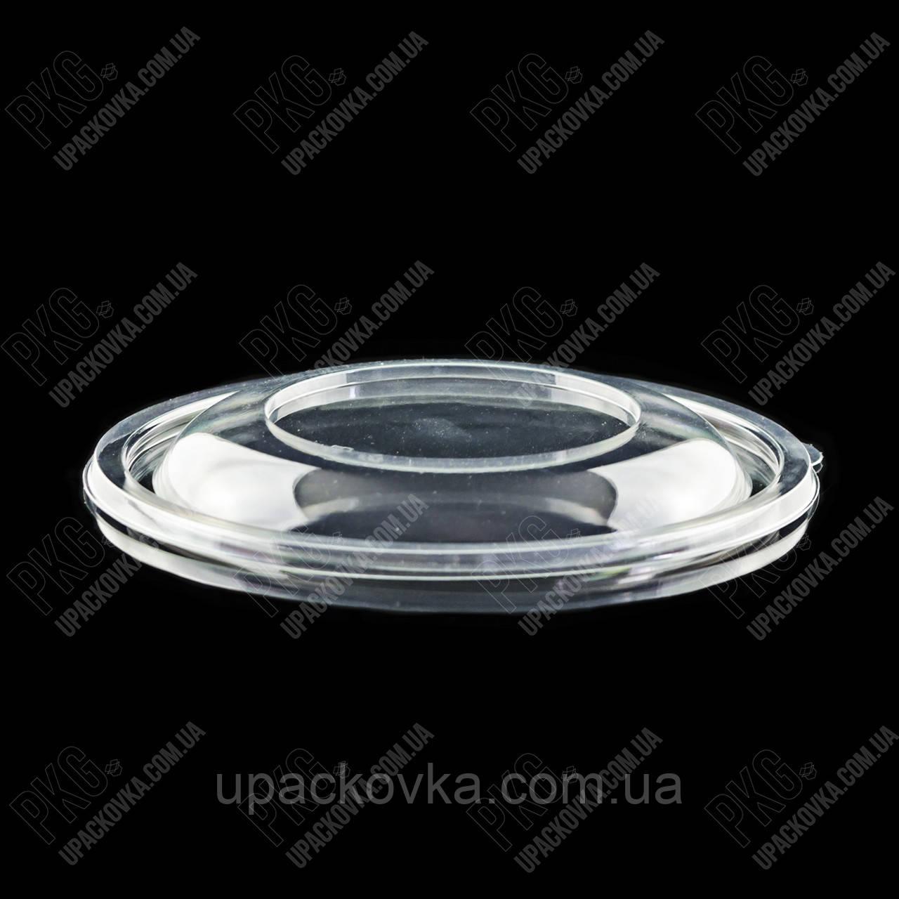 Крышка низкая к упаковке для салата, УК-107КА, ПРОЗРАЧНАЯ, РЕТ