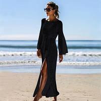 Туніка жіноча пляжна довга, ажурна в'язана