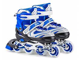 Роликовые коньки 3в1 Hop-Sport HS-8101 Speed M (размер 34-38) синие
