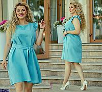 """Сукня жіноча легке з намистинами мод. 0125 (48-50, 50-52, 54-56) """"MILANI"""" недорого від прямого постачальника, фото 1"""
