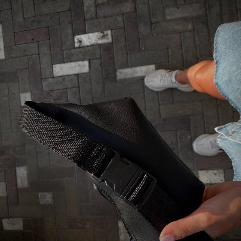 Бананка Мужская   Женская Philipp Plein черная black сумка на пояс с логотипом, фото 2