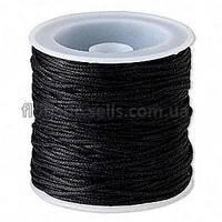 Шнур вощенный 1 мм, черный
