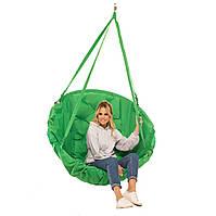 Качеля зеленая нагрузка 200 кг подвесное кресло качель зеленое
