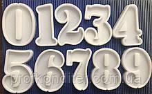 """ЕКСКЛЮЗИВ! Набір силіконових Молдова для льодяників """"Цифри від 0 до 9 - висота 7 см"""""""