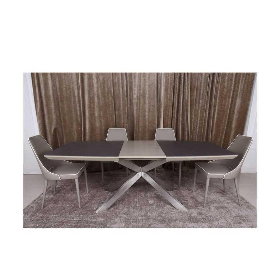 Стол  Nicolas Portland ( Портланд )  160 х 95 мокко/баклажан стеклокерамика