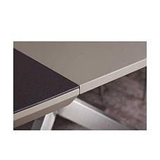 Стол  Nicolas Portland ( Портланд )  160 х 95 мокко/баклажан стеклокерамика, фото 3