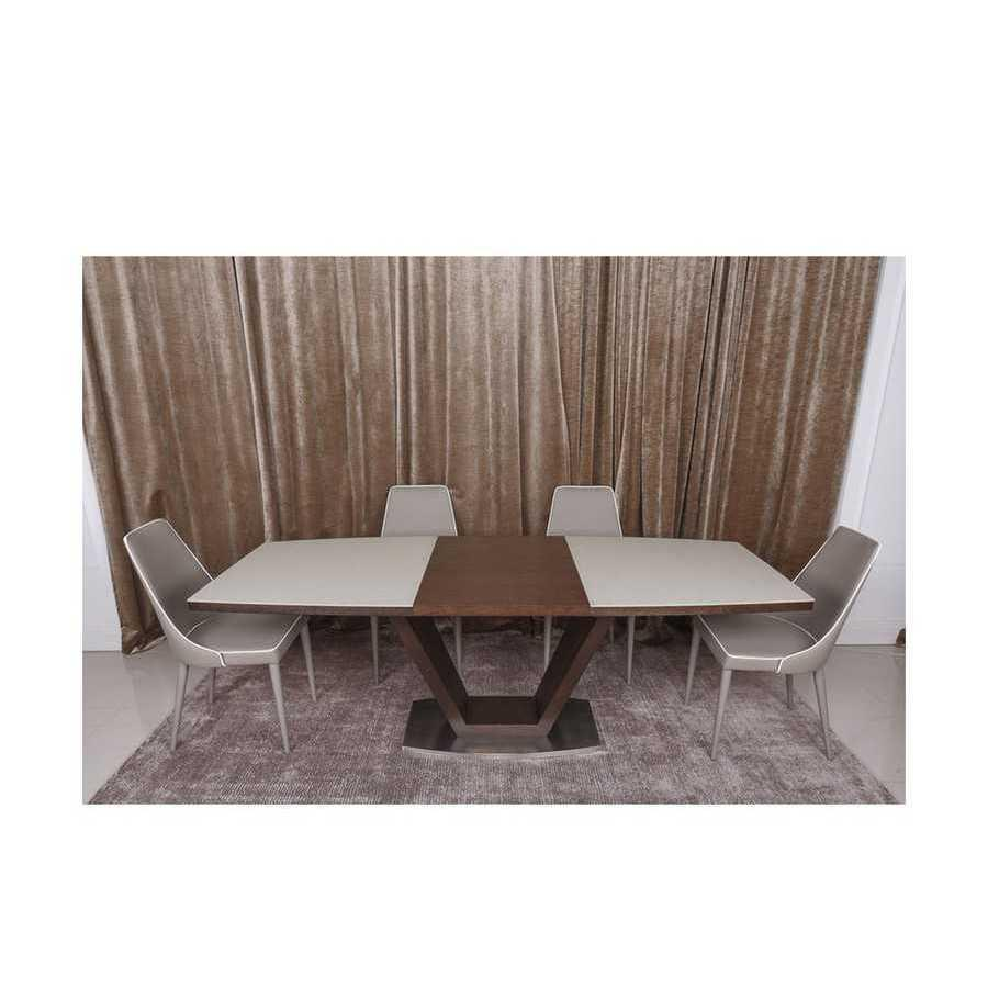 Стол Nicolas Detroit HT2135 (160/220*90) крем/венге