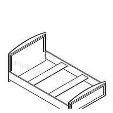 САЛЕРНО Кровать LOZ120 (каркас), фото 2