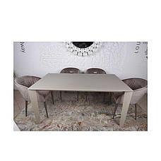 Стол Nicolas Liverpool 4622L (160/300*90) стекло капучино, фото 2