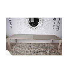 Стол Nicolas Liverpool 4622L (160/300*90) стекло капучино, фото 3