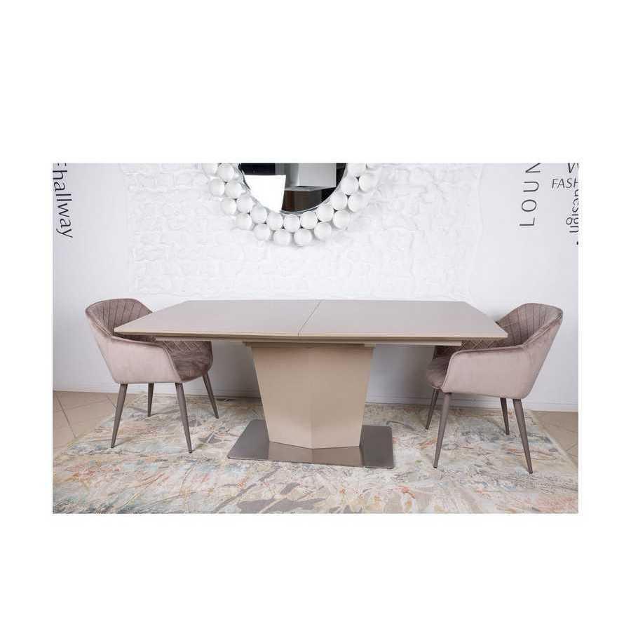 Стол Nicolas Michigan HT2368 (180/230*95) керамика мокко