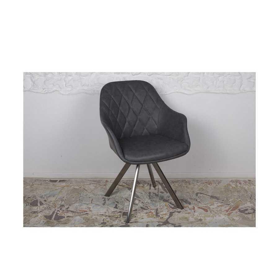 Кресло Nicolas Almeria (серое) поворотное
