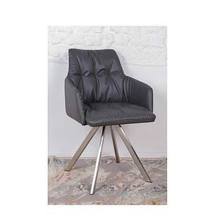 Кресло Nicolas Leon (темно-серое) поворотное, фото 2