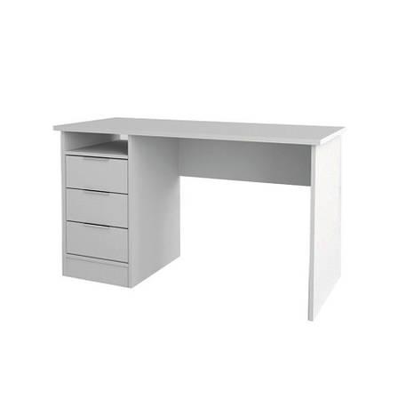 Стол письменный в кабинет, в детскую комнату из ДСП Студент Симпл Сокме белый, фото 2