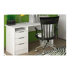 Стол письменный в кабинет, в детскую комнату из ДСП Студент Симпл Сокме белый, фото 3