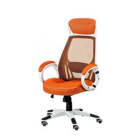 Кресло офисное Briz orangе/whitе Special4You, фото 2