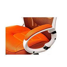 Кресло офисное Briz orangе/whitе Special4You, фото 3