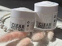 Poly gel clear Profi nails (полигель прозрачный)50ml
