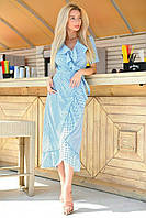 Сукня халат на запах на запах під пояс, фото 1