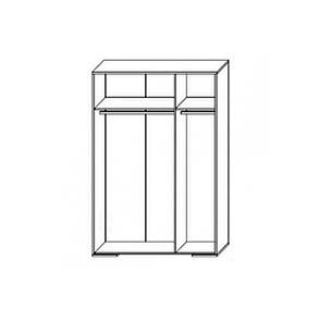 Шкаф распашной в спальню, в прихожую из ДСП Франческа 3Д Сокме дуб вотан/белый , фото 2