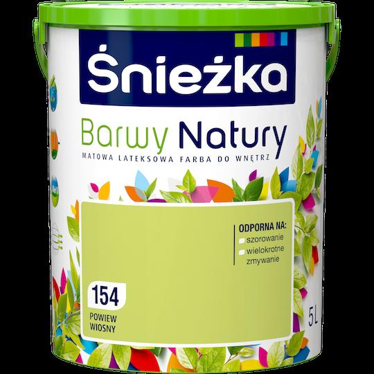 Краска латексная Sniezka Barwy Natury 154T Весенний дыхание 5 л